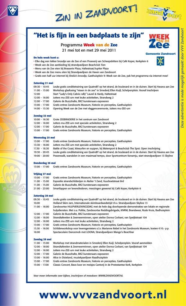 programma week van de zee